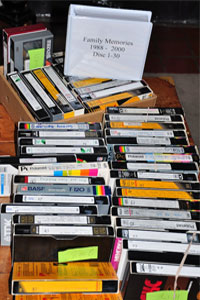 Archive your video tapes to media files, DVD, or hard drives